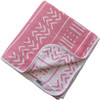 Reversible Muslin Quilt, Pink/White Mudcloth