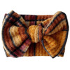Holiday Collection Sweater Bow Headband, Mustard Plaid