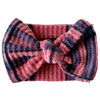 Holiday Collection Sweater Bow Headband, Mauve Plaid