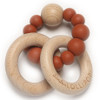 Wood & Silicone Ring Teether, Rust