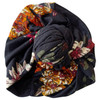 Knot Turban, Black Floral