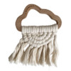 Beechwood & Macrame Teether, Natural Cloud