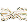 Top Knot Headband, Ribbed Shimmer Autumn Stripe