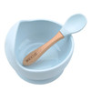 Silicone Bowl & Spoon Set, Ice Blue