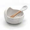 Silicone Bowl & Spoon Set, Grey Marble