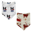 2-Pack Muslin Bandana Bib, Dogs & Cats