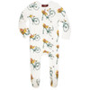 Bamboo Footed Romper, Floral Bicycle
