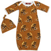 Woolly Mammoth Newborn Gown & Hat Set
