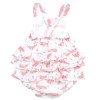 Ruffle Sunsuit, Pink Whale