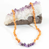 Raw Honey Amber Teething Necklace, Raw Amethyst