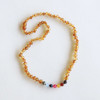 Raw Honey Amber Teething Necklace, Vintage Rainbow