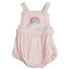 Ruffle Bubble Sunsuit, Pink Rainbow