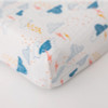Muslin Changing Pad Cover, Rain Clouds