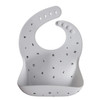 Silicone Baby Bib, Letters White
