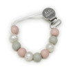 Lolli Silicone Pacifier Metal Clip, Rose Grey