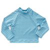 Oeuf Rash Guard, Blue Check