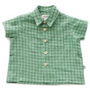 Oeuf Button Down Shirt, Green Check
