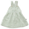 Oeuf Overall Dress, Green Dots
