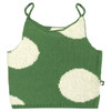 Oeuf Tie Strap Top, Green/White