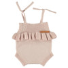 Knitted Frill Baby Romper, Pink