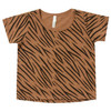 Rylee & Cru Basic Tee, Tiger Stripe