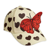Mini Rodini Cap, Hearts & Butterfly Cream/Brown