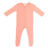 Bamboo Footed Romper, Terracotta