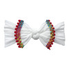 Trimmed Knot Bow, White Cinco