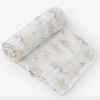 Deluxe Muslin Swaddle, Rainbows & Raindrops