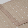 XL Muslin Quilt, Taupe Cross