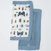2-Pack Deluxe Security Blanket, Bugs + Spruce
