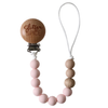 Pacifier Clip, Pink Peony