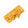 Ribbed Knot Bow, Yellow