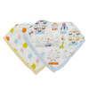 Muslin & Terry Cloth Bib Set, Carnival Fun
