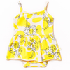 Tank Skirted Bodysuit, Yellow Ostrich