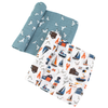 Muslin Swaddle Set, Nautical + Seagulls