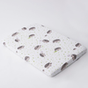 Muslin Mini Fitted Crib Sheet, Hedgehog