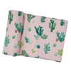 Bamboo Swaddle, Pink Cactus