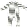 Zip Romper, Black Stripe