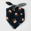 Reversible Bandana Bib, Midnight Rose