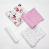 Muslin Swaddle Set 4-pack, Fall floral