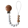 Pacifier Clip, Grey Marble