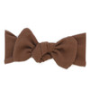 Organic Cotton Ribbed Headwrap Bow, Rust