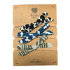 Bow Set, Abstract Black, Navy, Khaki