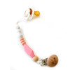 Beaded TGIF Pacifier Clip, Marble