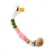 Beaded TGIF Pacifier Clip, Olive