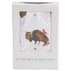 Muslin Fitted Crib Sheet, Bison