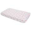 Muslin Fitted Crib Sheet, Pink Ladies Flamingo