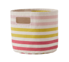 Pink and Green Stripe Pint