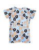 Mini Rodini Flowers Tee Dress, Light Blue